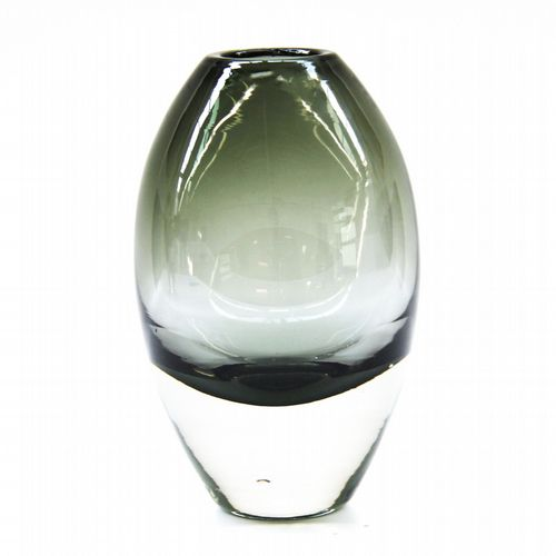 Belgian Glass Vase - Tall - Olive